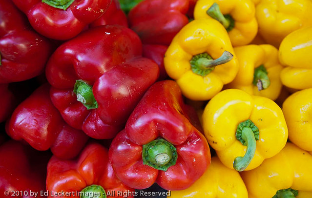 Peppers at the Market at Place Richelme, Aix en Provence, France