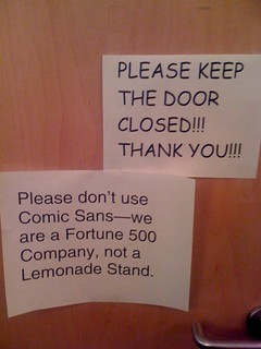 """""""Office professionalism"""" seems to have no bearing on freedom of speech...just as long as you use the right typeface. 