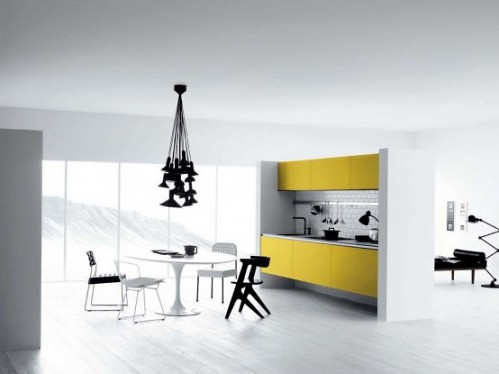 Cool White Yellow Black Kitchen Designs For Minimalist S Flickr