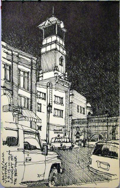 Victoria - Langley Street at night
