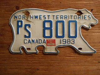 NORTHWEST TERRITORIES 1983-84 ---PUBLIC SERVICE PLATE PS800