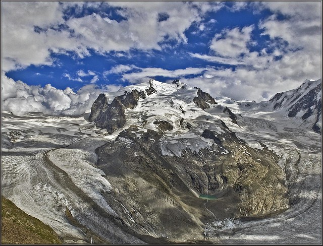 Monte Rosa,(4634m) / a view from Gornergrat (3,130m).(847)