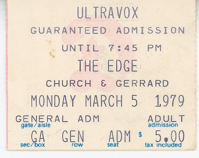 Ultravox - March 5, 1979 - The Edge - Toronto