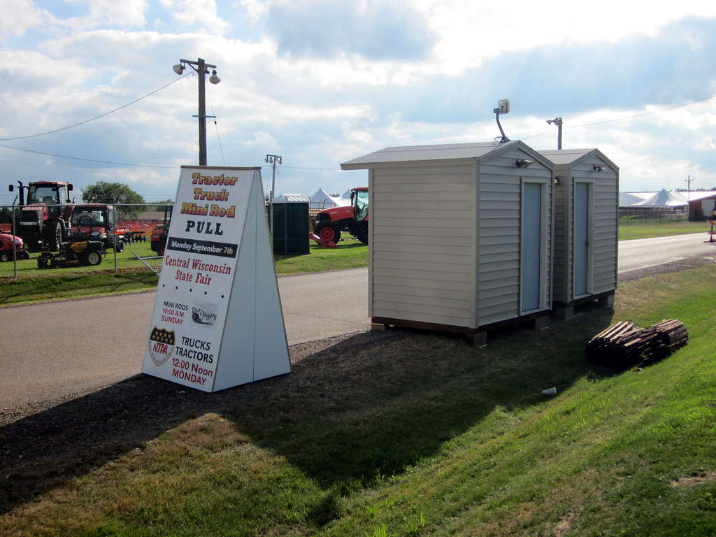 Ticket Buildings And NTPA Tractor Pull Sign Waiting To Be