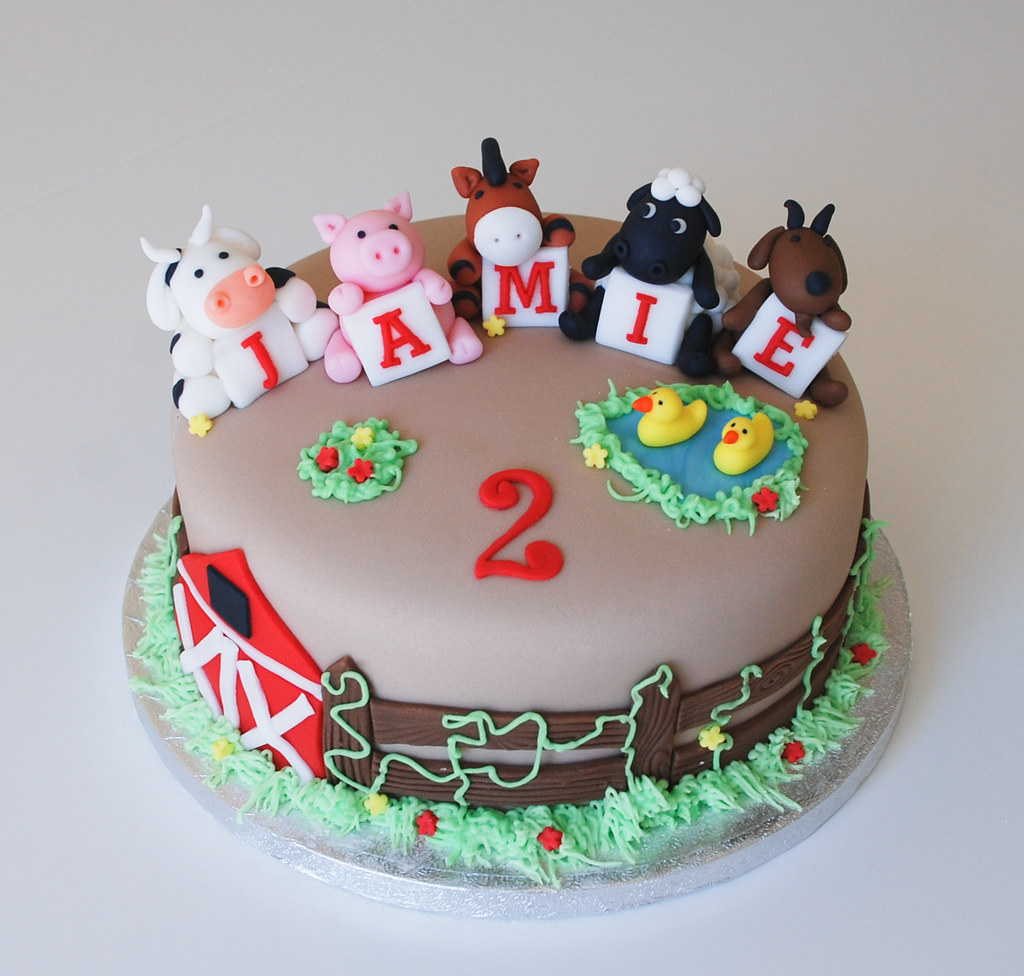Miraculous Farm Animal Birthday Cake Visit Me And Like My Facebook Pa Flickr Funny Birthday Cards Online Alyptdamsfinfo