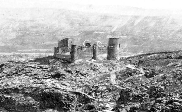 Castillo de San Servando en 1857. Fotografía de Charles Clifford (detalle)