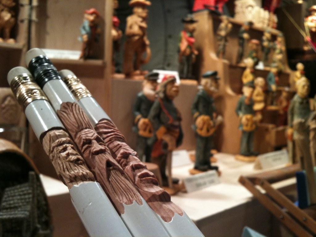 Pencil carvings at brukner woodcarving art show & sale flickr