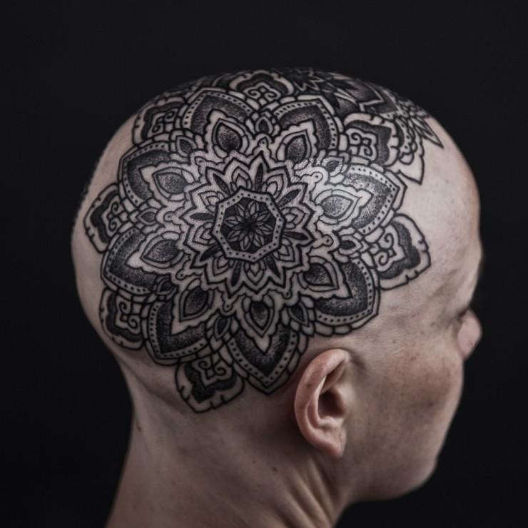 74c79909104bd mandala head tattoo by Thomas Hooper | Mychele & Ben Woolley-Pitts ...