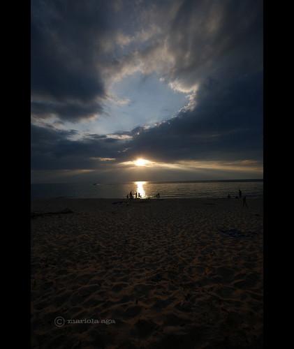light sunset summer people sun lake reflection beach nature water clouds boat sand michigan rays sunrays coloma lakemichiganbeach