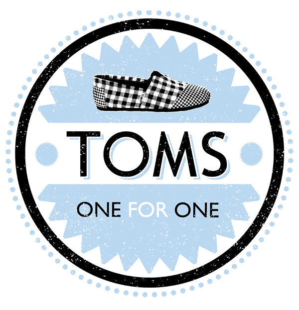 TOMS shoes T-shirt/logo design