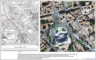 Rome, the Historical Center of Rome: Plan (1986) & Satellite View (2009), the area of the Piazza Venezia: R. Pigna IX, R. Trevi II, R. Monti I and the R. Campitelli X; With links too: Roma ieri, Roma oggi di Alvaro de Alvariis (2006-2010). | by Martin G. Conde