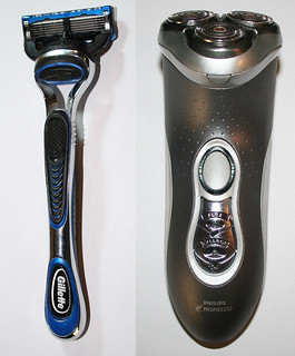 Razor (left)  and  Electric Razor (right) | by Jeffrey Beall