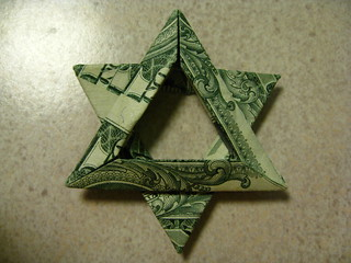 Money Origami Jewish STAR Of DAVID Back Side Folded With Real ... | 240x320