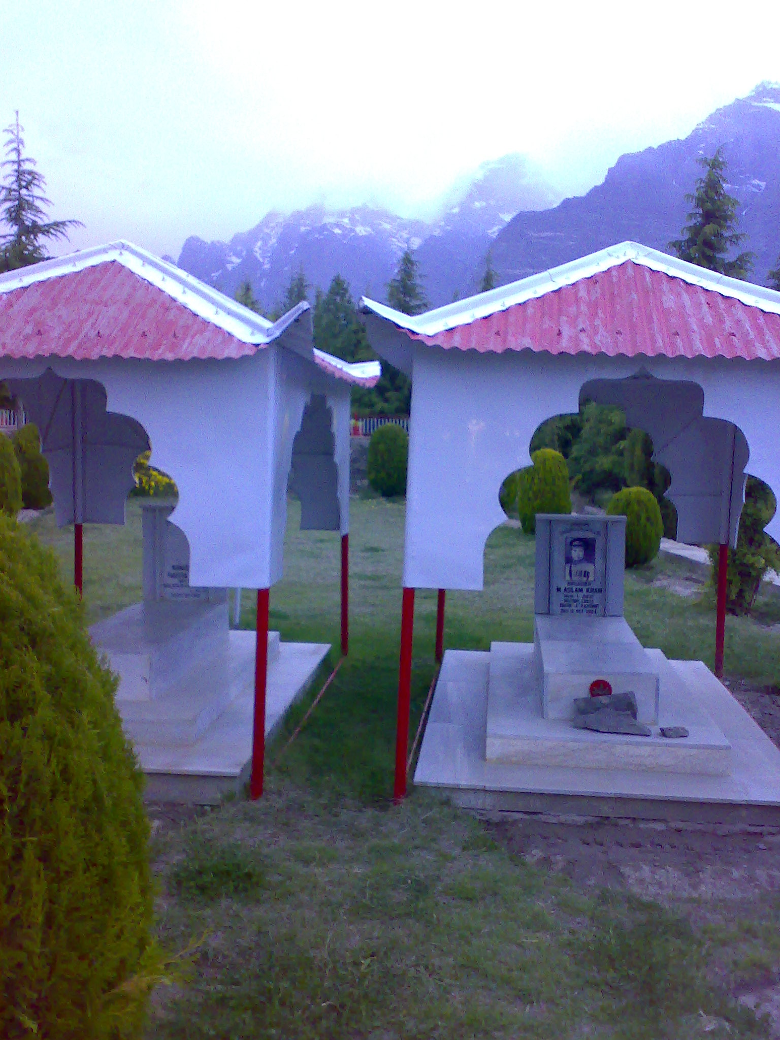 Shangrila Resort Founder and Wife, buried atop a small hill overlooking the beautiful Vale of Skardu