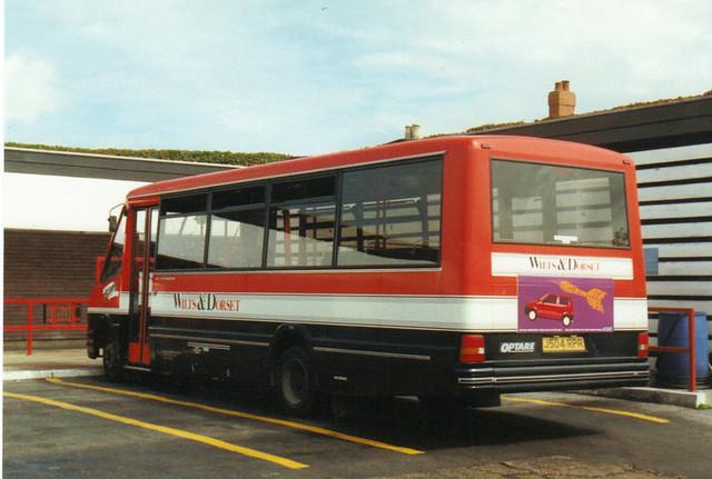 2504, J504 RPR, Optare Metrorider, 1991 (Wilts & Dorset) (t.1993)