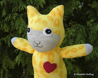 """Hug Me! Sock Kitty"" by Elizabeth Ruffing   by elizabethruffing"