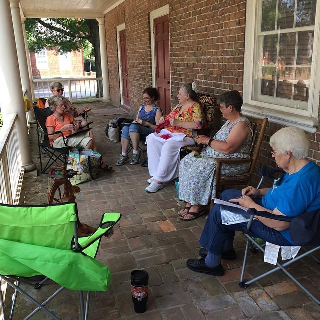 For #WWKIPDAY: just #knittin' on the porch. #GloucesterKnitting #guild