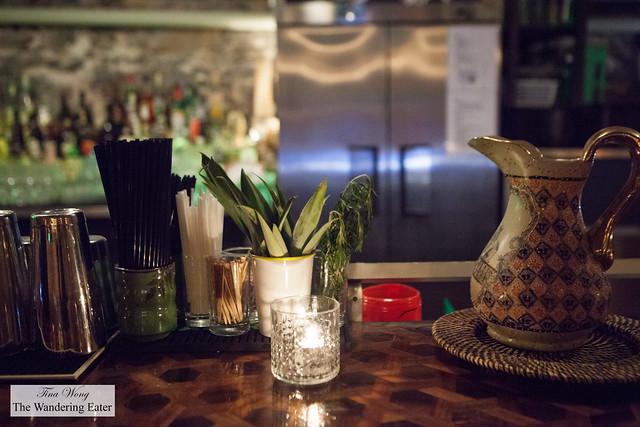 Partial setting at the bar