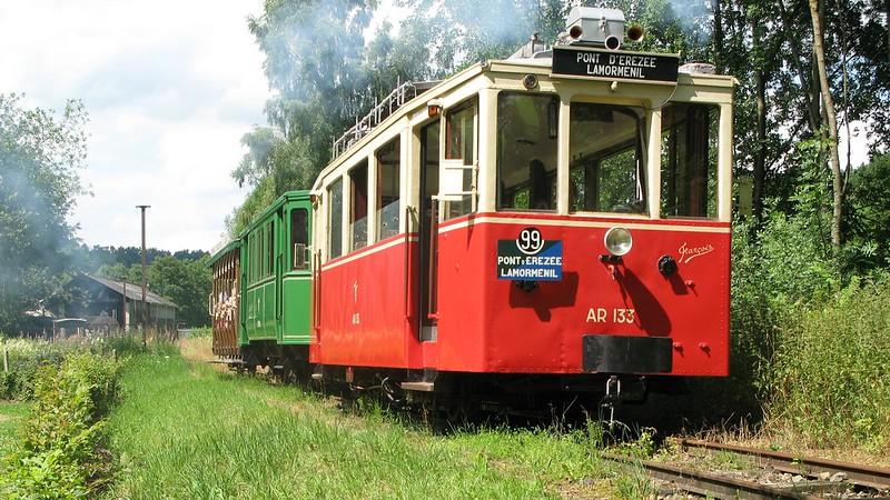 Tramlijn van D' Érezée naar Lamorménil bij Blier - België
