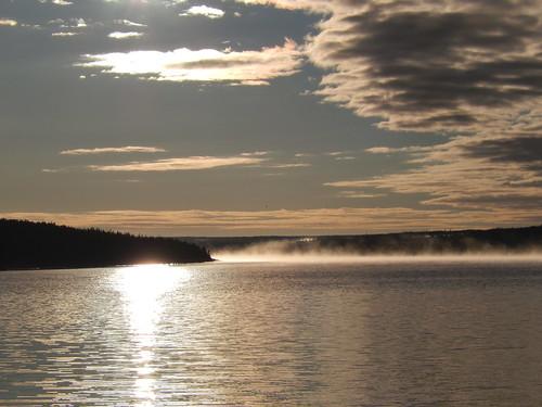 St Barbe - wachten op ferry naar Labrador
