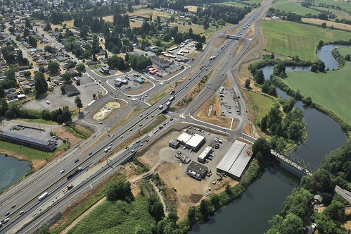 Completed Mellen Street intersection | by WSDOT