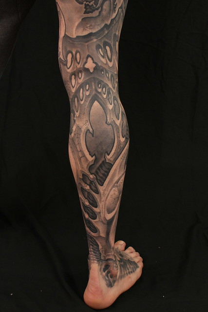 Biomech tattoo by Kali