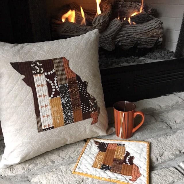 Missouri Pillow & Mug Rug