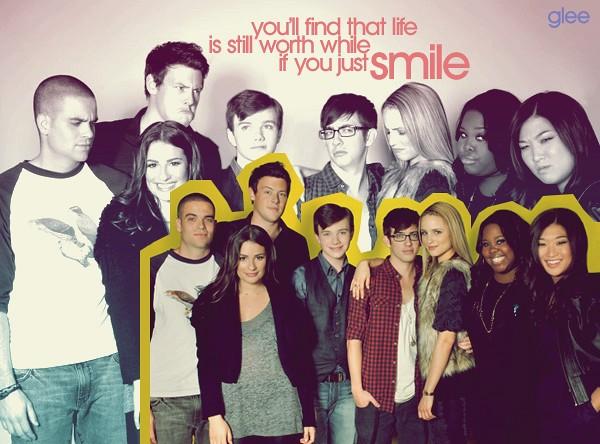 Glee Cast Smile Wallpaper Dendyherdanto Flickr