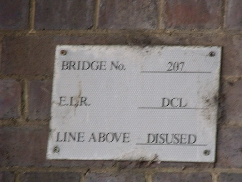 207 railway bridge, Warwick Road, Olton - sign - line above disused | by ell brown