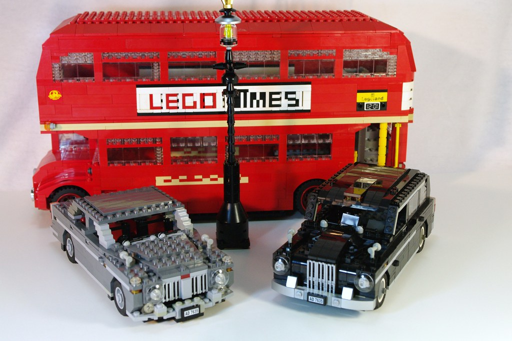 Classic London Street life - Routemaster Bus and classic Black Cab