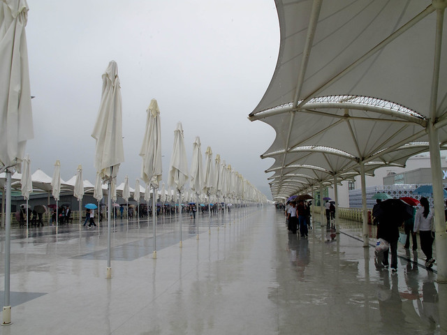 Rain at the expo