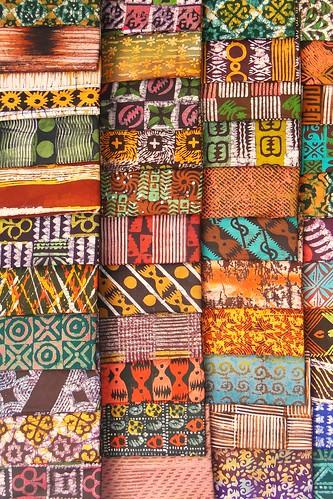 Kente (Batik) Cloth in Market - Kumasi - Ghana | by Adam Jones, Ph.D. - Global Photo Archive
