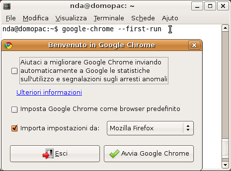 Chrome con --first-run (su Linux) | by nicoladagostino