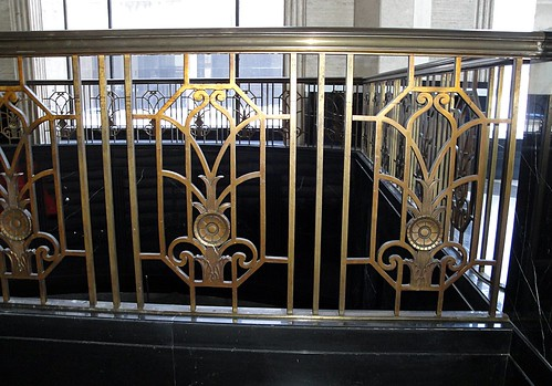 Art Deco Brass Railing | by noahjeppson