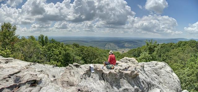 Black Mountain overlook, Mike Sawatzki, Cumberland Trail State Park, Cumberland Co, TN