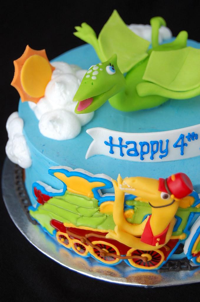 Super Dinosaur Train Birthday Cake Charmchang Flickr Personalised Birthday Cards Epsylily Jamesorg