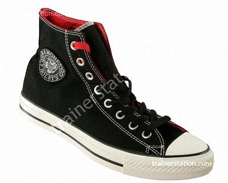 Converse All Star Ramones HI Black White Canvas Trainers