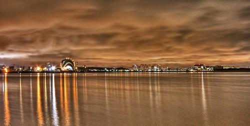 ocean water boston night clouds canon lights evening harbor long exposure tank gas 1022mm hdr xsi bostonist