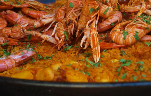 Paella Being Served at la Boqueria Market, Barcelona | by Oh-Barcelona.com