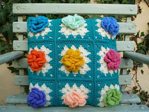 Grandma's Garden Cushion