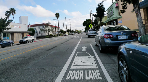 Santa Monica Door Lane / Bike Lane | by Gary Rides Bikes