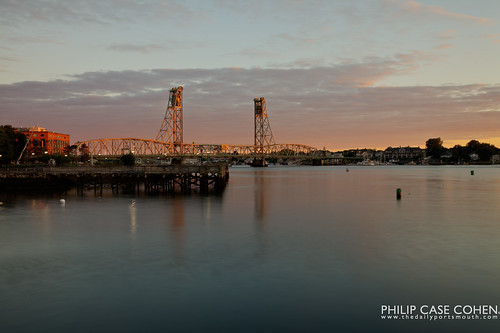 First Light on the Memorial Bridge by Philip Case Cohen