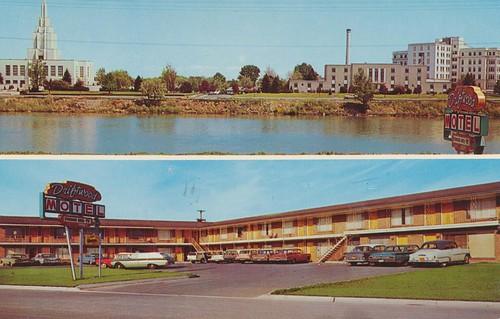 vintage postcard motel idaho waterfalls bestwestern idahofalls dualview