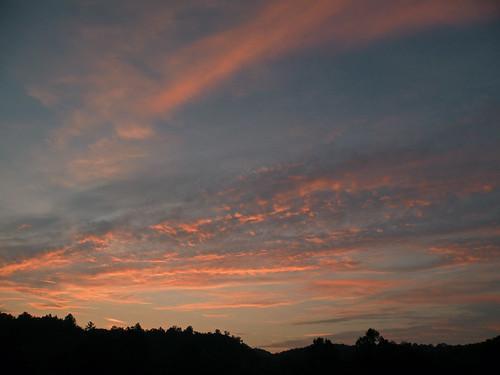 campalleghany sunset westvirginia lewisburg campalleghanyforgirls greenbrierriver bonniecoatesott