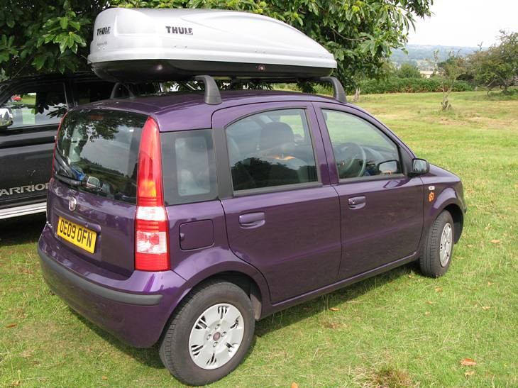Fiat Panda With Thule Roof Box It S Mr Pants Flickr