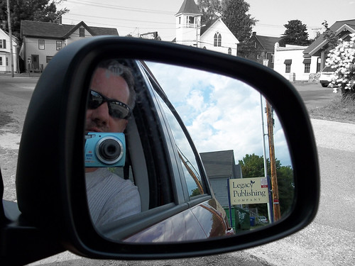 gay portrait selfportrait man reflection sunglasses beard maine rearviewmirror oakley westbrook 365project davidsullivan davidnewengland