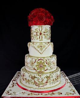 Henna wedding cake | by Design Cakes