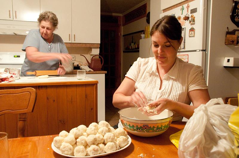 making pierogi