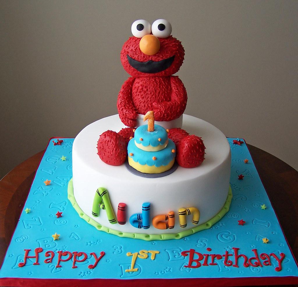 Brilliant Elmo Cake All Elements Of This Cake Were Custom Made From Flickr Funny Birthday Cards Online Inifodamsfinfo