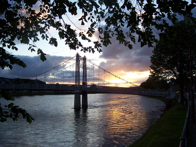 Sunset, River Ness, Inverness, March 2007